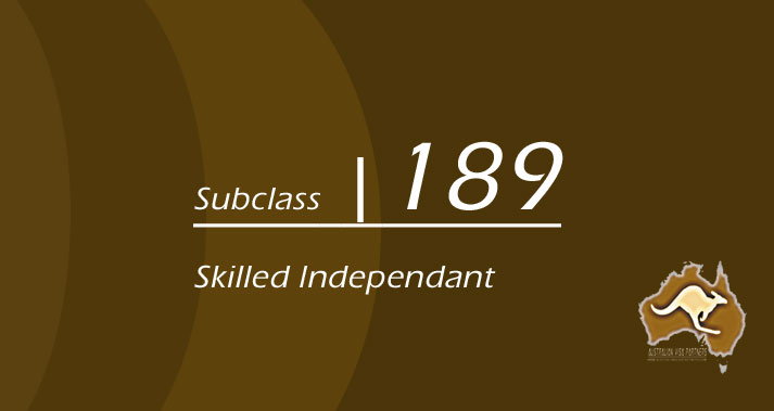 189-Subclass-Skilled-Independant